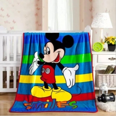 20 Style 140x150CM Woolen Blanket Printed Cartoon Pattern Child Comfortable Soft Blanket 1 140x100cm