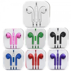 Headphones Earphone Headset Remote Mic Earbud For Apple iPhone 6 5 5S 5 4 4S black