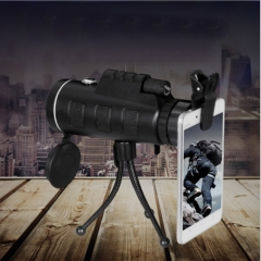 Day Night Vision 40x60 HD Optical Monocular Hunting Camping Hiking Telescope black 15*5.2*4.2