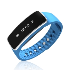 Fitness Tracker Bluetooth Sport Bracelet Smart Band Wristband Bluetooth for Android IOS blue one size