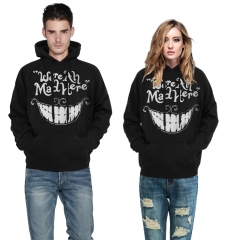 Cheshire cat smile Design 3D Digital Printed Hooded fleece  Baseball Jacket Fashion Women and Men colorful s/m
