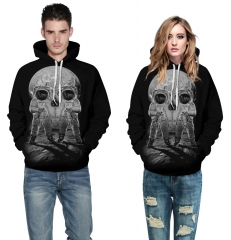Halloween skulls Design 3D Digital Printed Hooded fleece  Jacket Fashion  for Women and Men colorful s/m