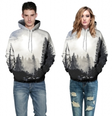 Star forest Design 3D Digital Printed Hooded fleece  Jacket Fashion  for Women and Men  hoodie colorful s/m