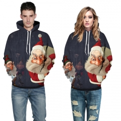 Santa Claus Design 3D Digital Printed Hooded fleece  Jacket Fashion  for Women and Men colorful s/m
