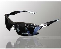 New Professional Polarized Cycling Glasses Bike Goggles Sports Bicycle Sunglasses UV 400 Black&White