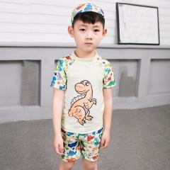 2-13Y Child Little Boys Two Piece Swimsuit Swimwear Kids Boy Bathing Suit yellow M