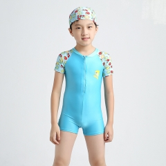 3-14Y Kids Boys One Piece Swimsuit Swimwear Short Sleeve Beach Wear color10 M