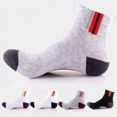 10 Pairs Men Outdoor Hiking Mountain Climbing Cycling Socks Cotton Running Crew Socks mixed colors one size one size