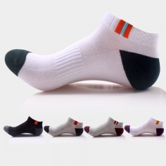 10 Pairs Summer Men Outdoor Hiking Mountain Climbing Ankle Cotton Sport Basketball Running Socks mixed colors one size one size
