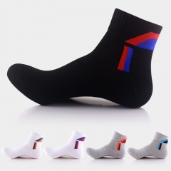 10 Pairs Men Outdoor Sports Athletic Running Socks Basketball Hiking Mountain Climbing Socks Cotton mixed colors one size one size
