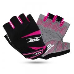 Women GEL Pad Cycling Gloves Half Finger Mountain Bike Sports Bicycle MTB Gloves Racing rose M