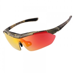 Polarized Cycling Eyewear Outdoor Bike Bicycle Sunglasses Goggles Windproof 3 Lens Eyewear Frame yellow