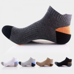 10 Pairs Men Outdoor Sports Hiking Mountain Climbing Socks Low Cut Running Basketball Socks Cotton mixed colors one size one size
