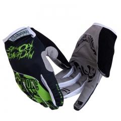 GEL Racing Full Finger Cycling Bicycle Gloves Men Women Silicone Road Mountain Bike Non-Slip Gloves green M