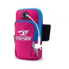 Waterproof Nylon Arm Band Bag for Phones 4-6 Inch Running Phone Bag Sport Arm Band Case ROSE One size