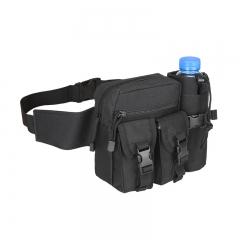 Waist Packs Waterproof Camouflage Pack Waist Belt Bag Military Waist Bag Nylon Travel Bag BLACK one size