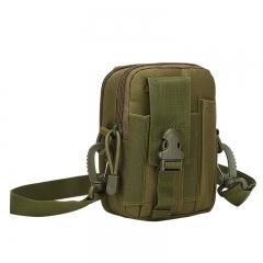 Outdoor Camouflage Shouder Bag Waterproof Casual Waist Belt Bag Oxford Running Phone Bag Chest Bag  DARK GREEN one size