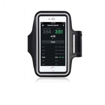 Touch Screen Phone Bag for 3.5-4.8 inch Hand Bag Running Sports Arm Band Waterproof PVC Leather Case BLACK One size