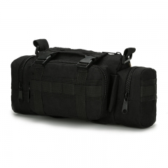 Outdoor Waist Belt Pack Multifunction Outdoor Outing Photography Bag Camouflage Waterproof Bag BLACK one size