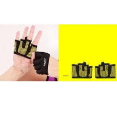 Gym Half Finger Gloves Training Fitness Gloves Sports Weight Lifting Exercise Slip-Resistant Gloves yellow S