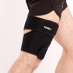 2pcs Sports Leg Support Brace Knee Pads Kneepad Compression Calf Stretch Brace Thigh Protector as picture one size