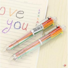 G2G-6 color ballpoint pen simple idea multicoloured practical business office stationery supplies