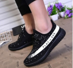 G2G Men' shoes Men 's sports shoes running shoes sneaker breathable fashion  Coconut shoes black and white 43