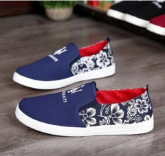G2GSlip-Ons Higher Shoes Men's Casual Shoes Breathable Canvas Sneakers Shoes for Men bule 44