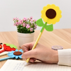 G2G-0.5mm Blue ink Creative pen cute flower ball pen Cartoon prizes stationery supplies wholesale as picture 1
