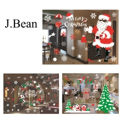 J.Bean Christmas Glass Color Decoration Christmas Glass Window Stickers Christmas Ornaments One Color Style 01