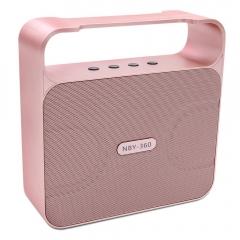 NBY powerful 10w bluetooth speaker. rose gold 10w 360