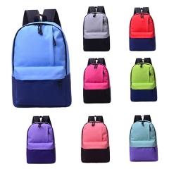 J.Bean Nylon Solid Color Travel Simple & Leisure Wild Shoulder Bag Student Pack Blue One  Size