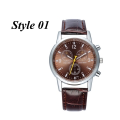 Sharer Business Casual Double Side Belt Fashion Quartz Men's Watch Style 01 One Size