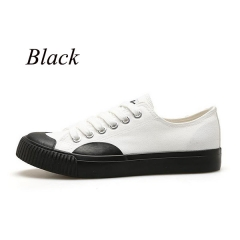 Sharer New Canvas Shoes Low To Help Board Shoes Harajuku More Wearable Men's Casual Shoes Black EUR 39