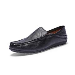 Sharer Men's Fashion Casual PU Men's Shoes More Wear-Resistant Light Men's Shoes Black EUR 39