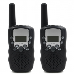 Black T-388 UHF Band 3KM Small Two Way Radio Walkie Talkie (2 pcs)