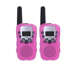 2pcs T-388 Mini Walkie Talkie for Child Amateur 3km UHF Two-Way Radio Red