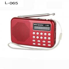 Mini Digital Super Small speaker FM/AM radio support usb sd card mp3 player L-065
