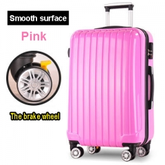 ABS High Strength  Draw Bar Box Trunk  Suitcase Bags Code Case  Boarding  Luggage Sets red 20 inch