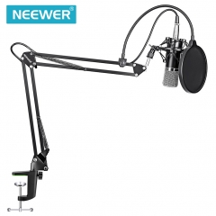 Neewer NW-700 Microphone+Microphone Scissor Arm Stand+Shock Mount+Mask Shield black normal NW-700