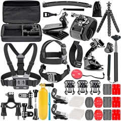 Neewer Accessory Kit For GoPro Hero 4 1 2 3 3+SJ4000/5000/6000 black 32x22x8.5cm