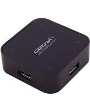 CROWN USB 3.0 HUB 4 Ports Hub transfer rate 5Gbps with LED indicator (Black) (CMU3-04bk)