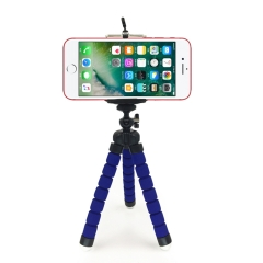 Octopus Tripod Bracket Phone Holder Phone Stand CameraTripod And Mobile Phone Clip blue normal