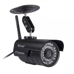 Sricam Outdoor Wireless P2P Network IP Camera Wifi CCTV Security IR SmartPhone black uk standard