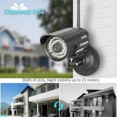 720P HD Outdoor Wireless Wifi Network Security Webcam IR IP Camera System PAL EU Plug