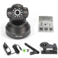 Sricam 720P HD Wireless WiFi IP Camera Pan/Tilt Security P2P Network Webcam black uk standard