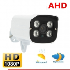 CCTV 1080P AHD Camera 2.0MP HD Analog Outdoor 3.6mm Security Night Vision NTSC System white one size