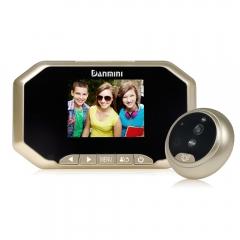 3 inch Visual Monitor Door Peephole 145°Wireless Viewer Camera Video Gold