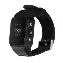 DMDG Watch Phone Security GPS Locator Tracker SOS Alarm for Android IOS black one size