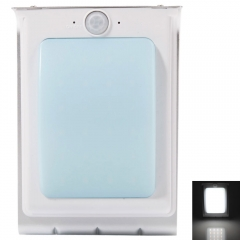 24 LED Solar Power Outdoor Waterproof Lamp PIR Motion Sensor Security Light silver one size